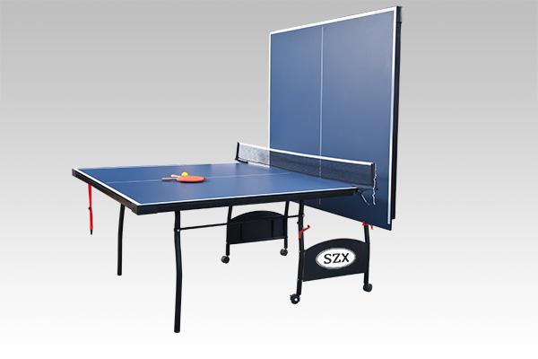 双子星折叠乒乓球台蓝色面板